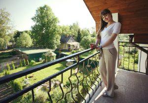 Вид с балкона, отель ВИЗАВИ